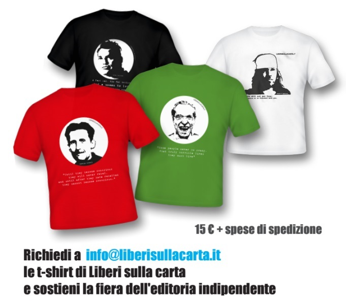 Le T-Shirt di Liberi sulla Carta.