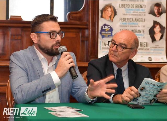 Fabrizio Moscato, direttore di LSC, e Antonio D'Onofrio, Presidente della Fondazione Varrone (Foto Rieti Life)